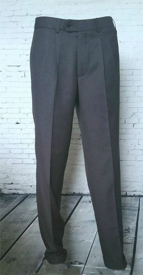 GREY NORTHERN SOUL PEG FRONT TROUSERS